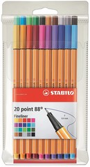 Rotulador Stabilo point 88 E/20 stdos