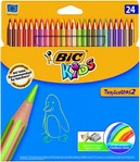 Lapices Bic Kids Stripes 24 colores